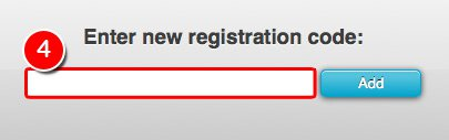 Enter new registration code